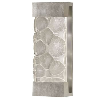 Fine Art Handcrafted Lighting 810950-34 Crystal Bakehouse Contemporary Silver LED Wall Sconce Light