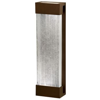 Fine Art Handcrafted Lighting 811050-13 Crystal Bakehouse Contemporary Bronze LED Wall Sconce