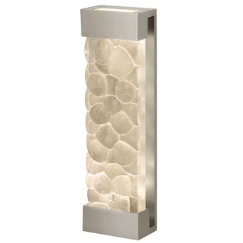 Fine Art Handcrafted Lighting 811050-24 Crystal Bakehouse Contemporary Silver LED Sconce Lighting