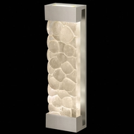 Fine Art Lamps 811050-24 Crystal Bakehouse 24 Inch Tall Silver Large Lighting Wall Sconce - River Stones