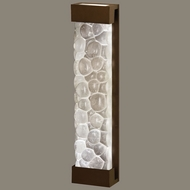 Fine Art Lamps 811150-14 Crystal Bakehouse 30 Inch Tall Bronze Extra Large Sconce Light Fixture - River Stones