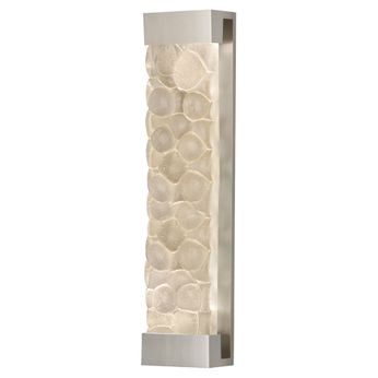 Fine Art Handcrafted Lighting 811150-24 Crystal Bakehouse Silver LED Lighting Wall Sconce