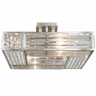 Fine Art Handcrafted Lighting 811640 Crystal Enchantment Silver LED Ceiling Light Fixture