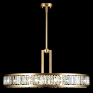 Fine Art Lamps 812040-2 Crystal Enchantment Gold LED Drum Pendant Lighting Fixture