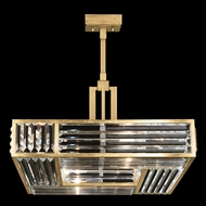 Fine Art Handcrafted Lighting 813040-2 Crystal Enchantment Gold LED Hanging Light Fixture