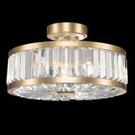 Fine Art Handcrafted Lighting 815740-2 Crystal Enchantment Traditional Gold LED Flush Mount Lighting