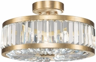 Fine Art Lamps 815740-2ST Crystal Enchantment Gold LED Ceiling Light Fixture
