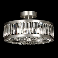 Fine Art Handcrafted Lighting 815740 Crystal Enchantment Traditional Silver LED Flush Lighting