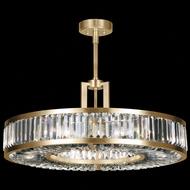 Fine Art Lamps 815840-2 Crystal Enchantment Traditional Gold LED Drum Ceiling Light Pendant