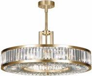 Fine Art Lamps 815840-2ST Crystal Enchantment Gold LED Drum Pendant Light