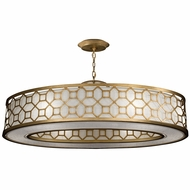 Fine Art Lamps 816640-2GU Allegretto Gold LED Drum Ceiling Pendant Light