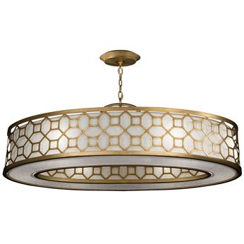Fine Art Handcrafted Lighting 816640-2GU Allegretto Gold LED Drum Ceiling Pendant Light