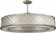 Fine Art Lamps 816640GU Allegretto Silver LED Drum Hanging Pendant Light