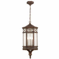 Fine Art Lamps 837082 Holland Park Modern Bronze LED Outdoor Drop Lighting Fixture