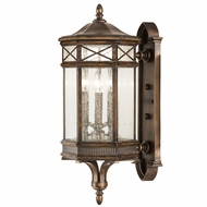 Fine Art Handcrafted Lighting 837481 Holland Park Traditional Antique Bronze Finish 12  Wide Exterior Lamp Sconce