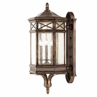 Fine Art Handcrafted Lighting 837681 Holland Park Traditional Antique Bronze Finish 34  Tall Outdoor Wall Sconce Lighting