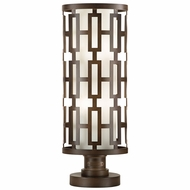 Fine Art Lamps 838880 River Oaks Contemporary Bronze LED Exterior Pier Mount