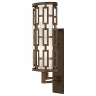 Fine Art Handcrafted Lighting 839481 River Oaks Contemporary Bronze LED Outdoor Wall Sconce