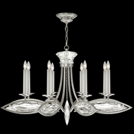 Fine Art Handcrafted Lighting 843940-12 Marquise Silver LED Chandelier Lamp