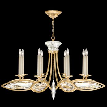 Fine Art Handcrafted Lighting 843940-22 Marquise Gold LED Chandelier Light