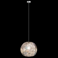 Fine Art Handcrafted Lighting 851840-106L Natural Inspirations LED Contemporary Silver LED Mini Pendant Lamp