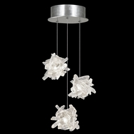 Fine Art Lamps 852340-102 Natural Inspirations Contemporary Silver LED Multi Hanging Light