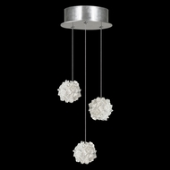 Fine Art Lamps 852340-103 Natural Inspirations Modern Silver LED Multi Pendant Lighting Fixture