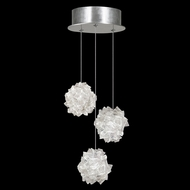 Fine Art Handcrafted Lighting 852340-104L Natural Inspirations LED Contemporary Silver LED Multi Pendant Hanging Light