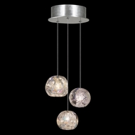 Fine Art Lamps 852340-106 Natural Inspirations Modern Silver LED Multi Hanging Light Fixture
