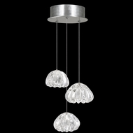 Fine Art Handcrafted Lighting 852340-107L Natural Inspirations LED Contemporary Silver LED Multi Ceiling Light Pendant