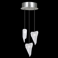 Fine Art Handcrafted Lighting 852340-108 Natural Inspirations Contemporary Silver LED Multi Ceiling Pendant Light