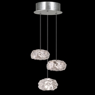 Fine Art Handcrafted Lighting 852340-11 Natural Inspirations Contemporary Silver LED Multi Drop Lighting Fixture