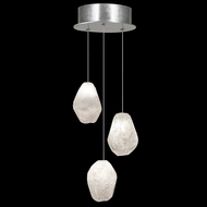 Fine Art Handcrafted Lighting 852340-13L Natural Inspirations LED Contemporary Silver LED Multi Lighting Pendant