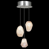 Fine Art Handcrafted Lighting 852340-14 Natural Inspirations Contemporary Silver LED Multi Pendant Lamp