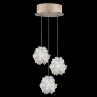 Fine Art Handcrafted Lighting 852340-204L Natural Inspirations LED Contemporary Gold LED Multi Pendant Hanging Light
