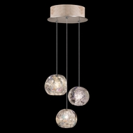 Fine Art Handcrafted Lighting 852340-206 Natural Inspirations Contemporary Gold LED Multi Hanging Light Fixture