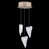 Fine Art Handcrafted Lighting 852340-208L Natural Inspirations LED Contemporary Gold LED Multi Drop Ceiling Light Fixture
