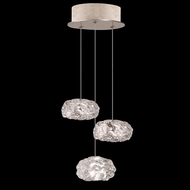 Fine Art Handcrafted Lighting 852340-21 Natural Inspirations Contemporary Gold LED Multi Drop Lighting Fixture