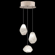 Fine Art Handcrafted Lighting 852340-23 Natural Inspirations Contemporary Gold LED Multi Pendant Light