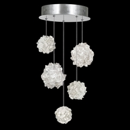 Fine Art Lamps 852440-105 Natural Inspirations Modern Silver LED Multi Pendant Lighting Fixture