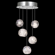 Fine Art Lamps 852440-106 Natural Inspirations Modern Silver LED Multi Hanging Pendant Light