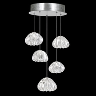 Fine Art Lamps 852440-107 Natural Inspirations Modern Silver LED Multi Hanging Light Fixture