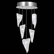 Fine Art Lamps 852440-108 Natural Inspirations Modern Silver LED Multi Drop Ceiling Lighting