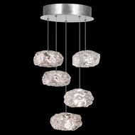 Fine Art Handcrafted Lighting 852440-11L Natural Inspirations LED Contemporary Silver LED Multi Drop Ceiling Light Fixture