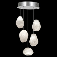 Fine Art Lamps 852440-13L Natural Inspirations LED Contemporary Silver LED Multi Pendant Lighting