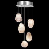 Fine Art Lamps 852440-14 Natural Inspirations Contemporary Silver LED Multi Pendant Light