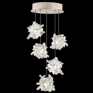 Fine Art Handcrafted Lighting 852440-202L Natural Inspirations LED Contemporary Gold LED Multi Hanging Lamp