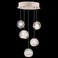 Fine Art Handcrafted Lighting 852440-206L Natural Inspirations LED Contemporary Gold LED Multi Hanging Pendant Lighting