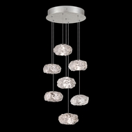 Fine Art Handcrafted Lighting 852640-11L Natural Inspirations LED Contemporary Silver LED Multi Pendant Hanging Light
