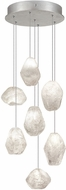 Fine Art Lamps 852640-13ST Natural Inspirations Contemporary Silver Halogen Multi Pendant Lighting